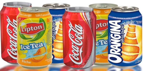 Image Boisson Alcoolisee : Canette De Coca En Verre